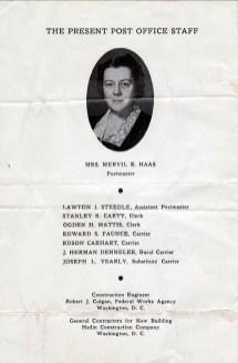 1940 July 4, dedication of Post Office booklet pg4