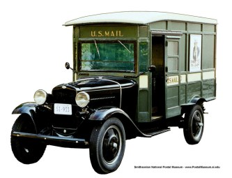 This is NOT the Model A Ford used for rural mail deliveries in Cinnaminson during the 1930s. However, if a reader has any pictures, stories, memorabilia, etc. to share or give to the HSR, please contact us at rivertonhistory.com PHOTO CREDIT: postalmuseum.si.edu