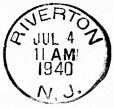 Riverton 1940 postmark