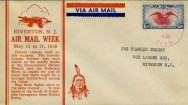 The 1938 postmark puts this first day cover originating from the post office at 611 Main Street. IMAGE CREDIT: Envelope owned by John McCormick