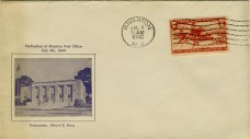 First-day cover commemorating July 4, 1940 dedication of Riverton Post Office. IMAGE CREDIT: Cover - John McCormick,