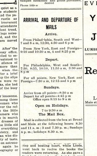 mails New Era April 30, 1909 pg 2