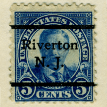 precancel Riverton Theodore Roosevelt 1925 Issue-5c