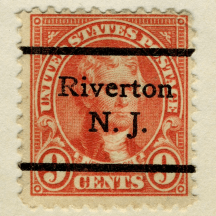 precancel Riverton Thomas Jefferson 1923 Issue-9c