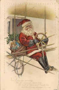 Santa in an airship, 1915