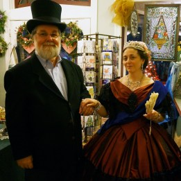 Her Highness meets Gerald Weaber, our President - of the Historical Society, that is.