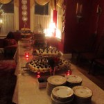 Guests at the Royal Reception helped themselves to an assortment of confections and cheese to accompany their freshly brewed tea.