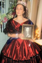 Her Highness shows a portrait of her beloved Prince Albert