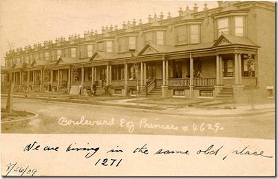 Boulevard east of Princess, North Camden, NJ 1909 postmark