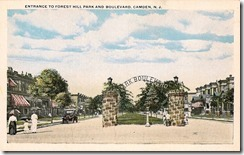 Entrance to Forest Hill Park and Boulevard, Camden, NJ