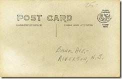 RYC and Bank Avenue, Riverton, NJ RPPC 1904-1920s back (1280x820)