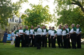 The Pine Barons Chorus brought their A-game to the riverbank