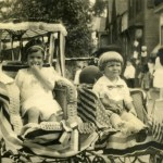 Elsie Showell and brother John, Riverton July 4, c.1920