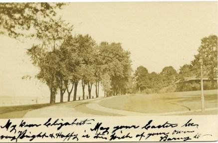 1907 RPPC postcard, Bank Avenue, personal purchase