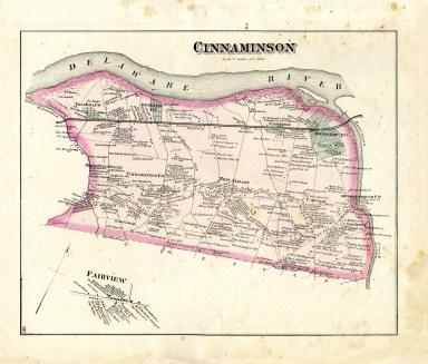 Cinnaminson 1876 map