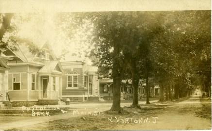 1909 RPPC postcard, Main Street, Riverton, NJ