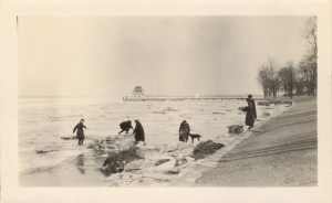 River Ice, undated, from Bill & Nancy Hall's family photos