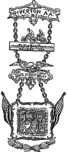 1895 New York Times Tri-State Relay Race medal