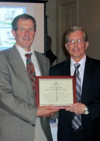 Dan Campbell at left, John Laverty at right