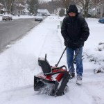 Snowblowing in Delran 1-27-2015