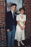 1987-Tom Palermo and Jill Dechnik, after an 8th Grade Graduation Party at my house