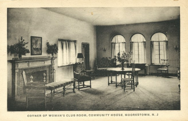 "fig. 11 MCH post card, ""THE CORNER OF THE WOMAN'S CLUB"""