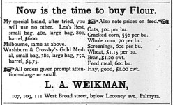 L.A. Weikman ad, The Weekly News, Sept. 10, 1892, p3.