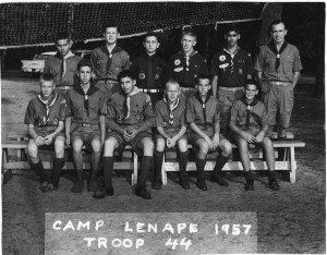 Camp Lenape, Troop 44, 1957
