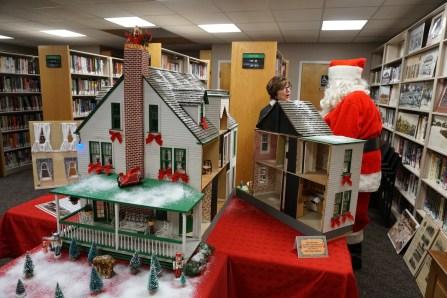 Santa greets a visitor
