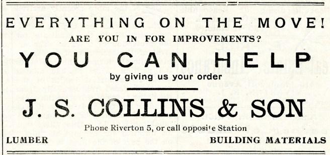 JS Collins & Son, The New Era April 30, 1909