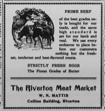 Riverton Meat Market, The New Era, March 4, 1921
