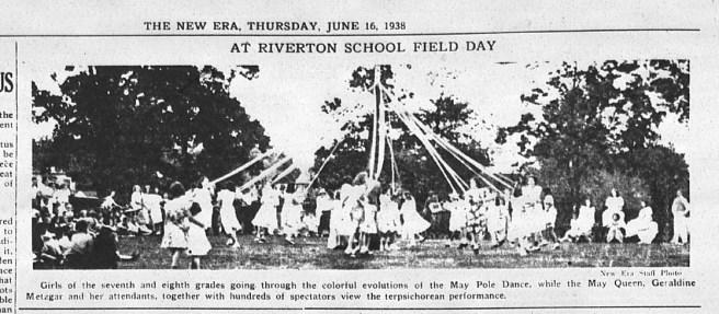 Riverton School field day, The New Era, June 16, 1938, p2