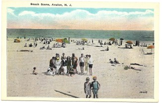 Beach scene, Avalon, NJ