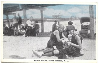 Beach scene, Stone Harbor, NJ