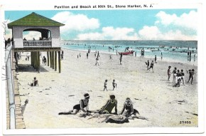 Pavilion and beach at 96th St., Stone Harbor, NJ 1331