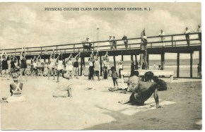 Physical culture class on beach, Stone Harbor, NJ 1335)