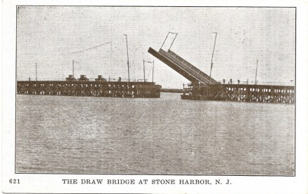 Ocean Parkway draw bridge to Stone Harbor in the open position