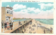 Beach Scene and Boardwalk