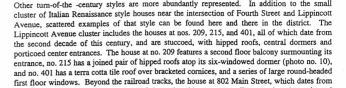 1999 Riverton National Register Historic District Inventory, page 25, 209 Lippincott detail