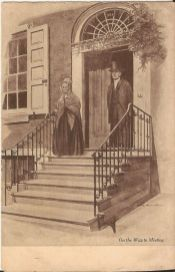 Jane Allen Boyer postcard 1909 On the Way to Meeting, side 1