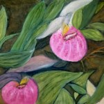 Pink Flower painting by Sue Carlson