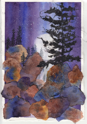 Conni Schaftennar Mountain Moon Collage