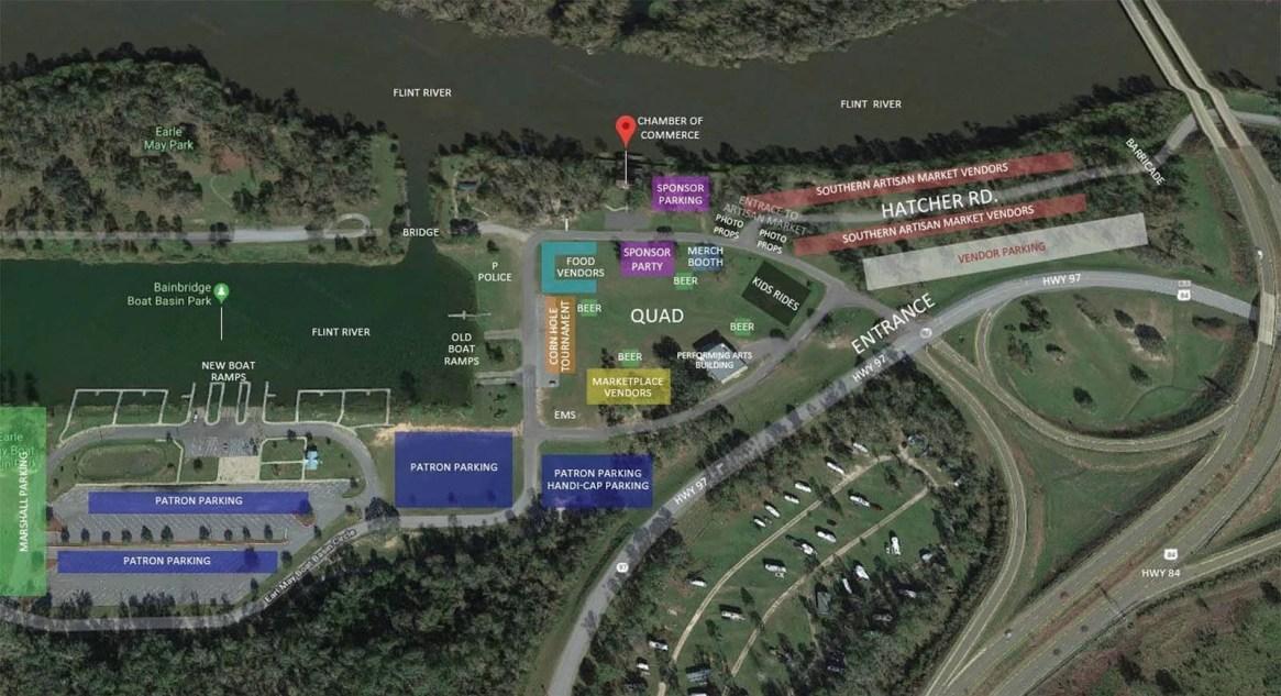 vendor map-river town days