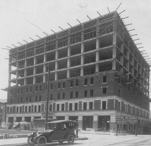 McCurdy - construction (1917) Willard Library - Knecht 1867 HISTORIC EVANSVILLE DOT COM