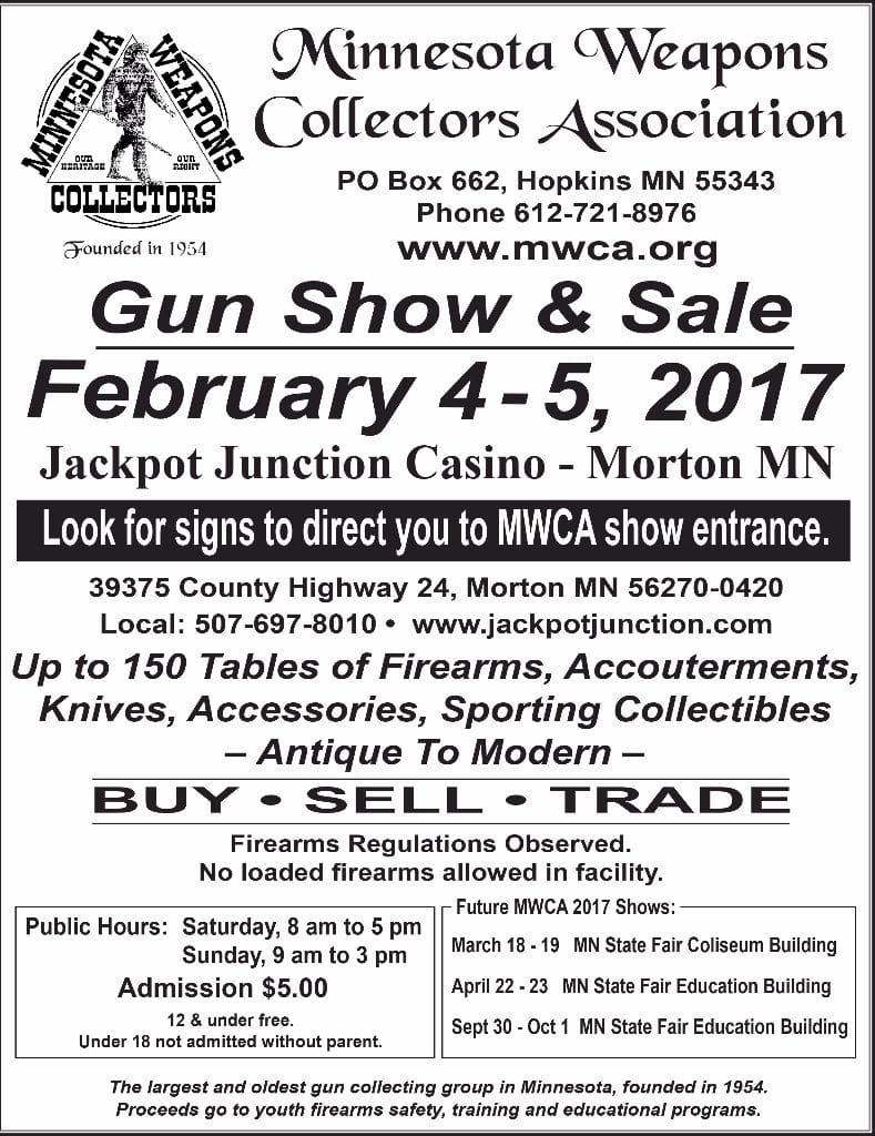 MWCA Gun Show Feb 4-5, 2017