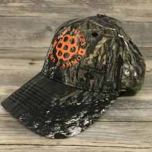 Camo Hat with Orange Logo