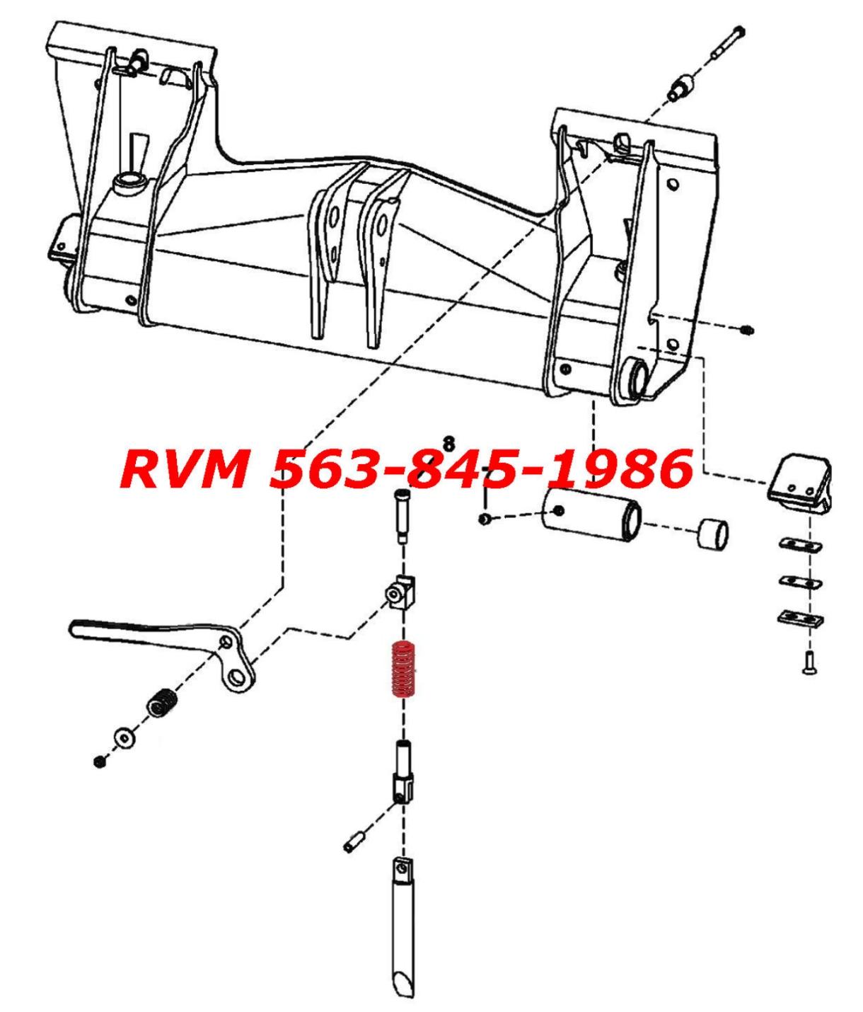 Bobcat Bobtach Wedge Spring S630 S650 S70 S740 S750 S770 S850 Skid Steer