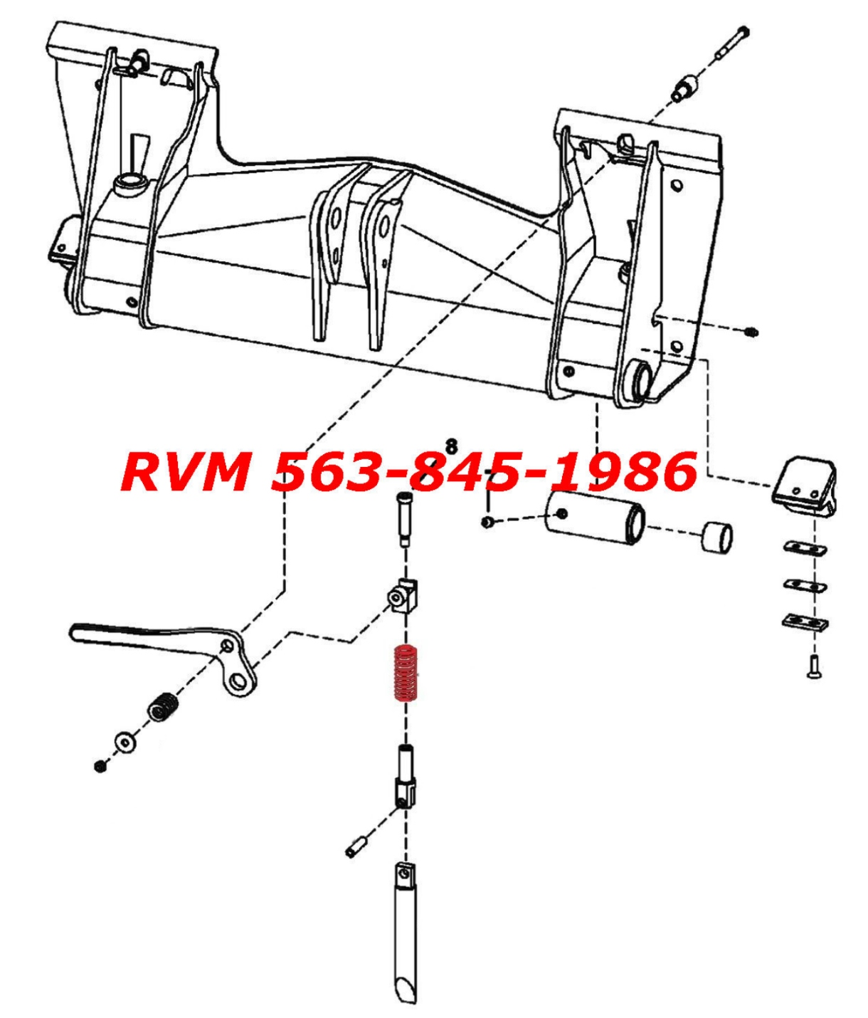 763 bobcat hydraulic schematic compression spring  6578253  for quick attach handle   wedge  for quick attach handle   wedge