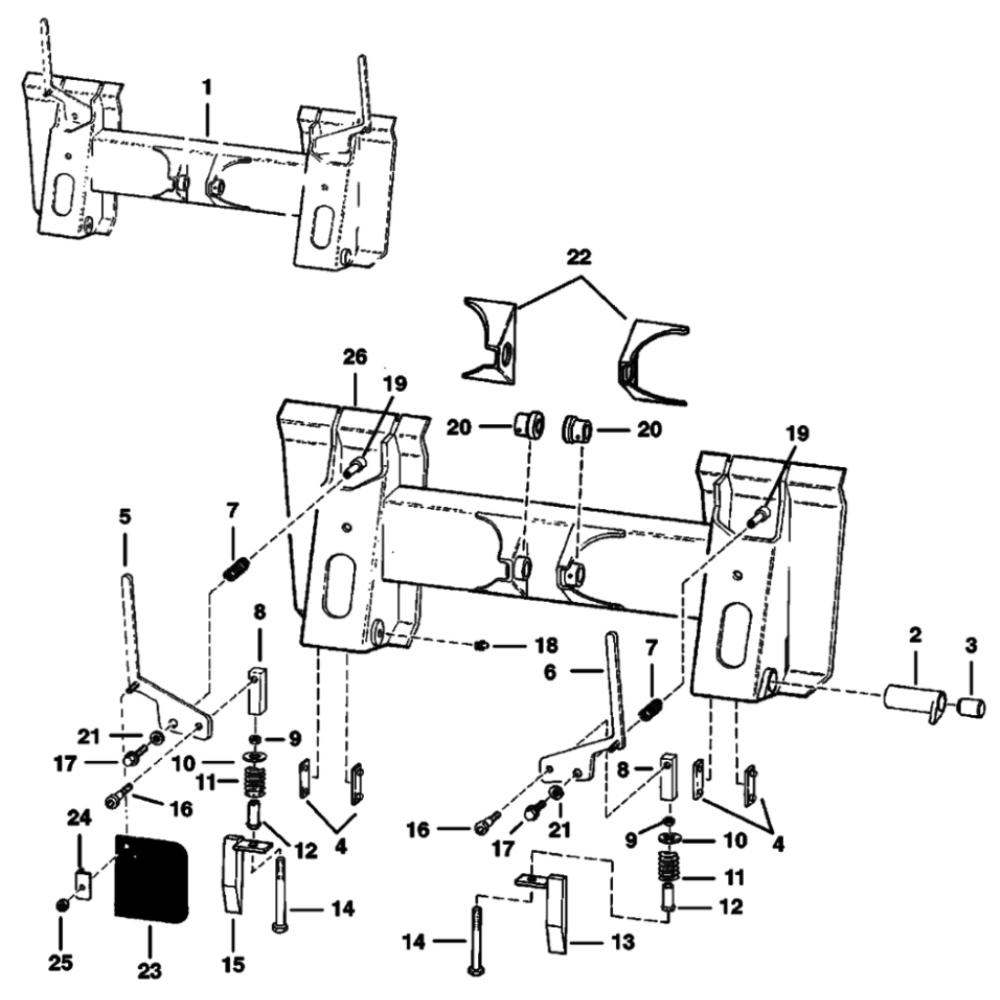 for Bobcat Skid-Steer Loaders 6565189-RH-Complete RVM Wedge Repair Kit