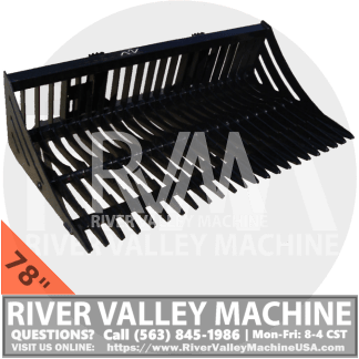 RVM HD | River Valley Machine Heavy-Duty Skeleton Bucket - 78""